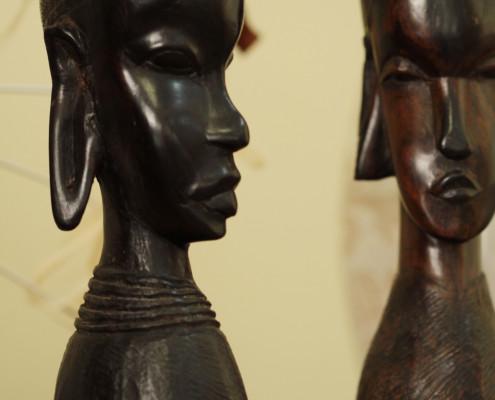 Holzfiguren Deko Afrika