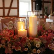 Hochzeit Tischschmuck Kranz Rosa, Rosen, Hortensien