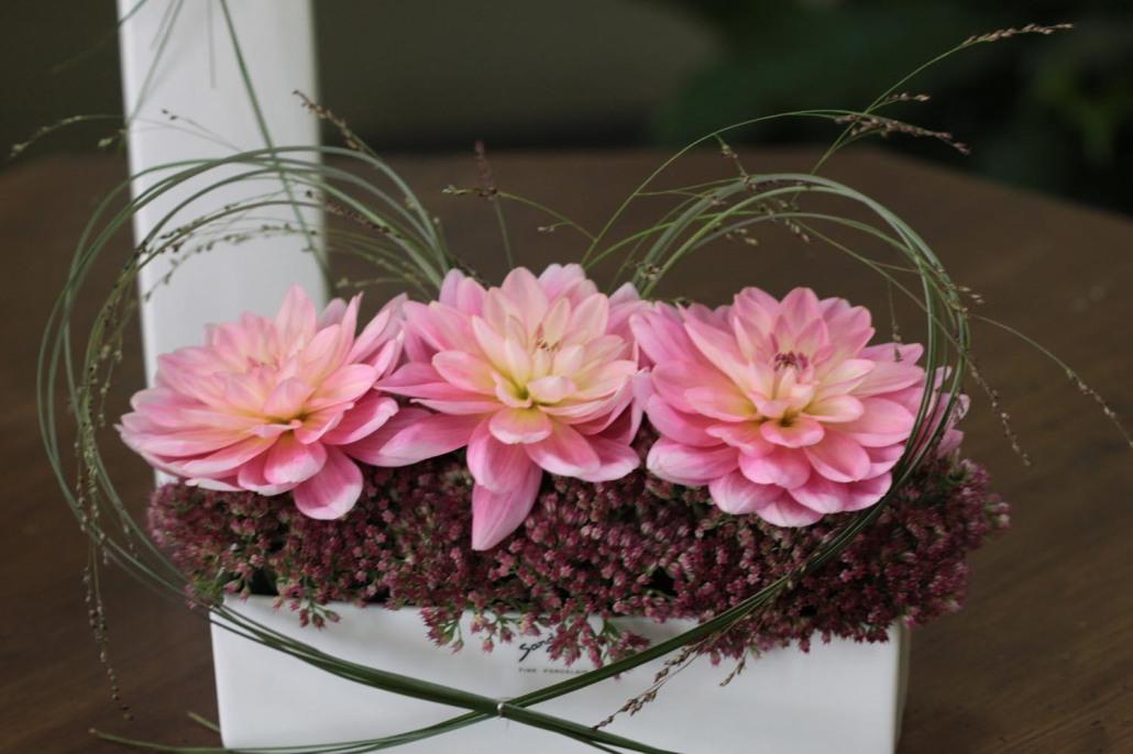 Tafelschmuck Dahlien rosa